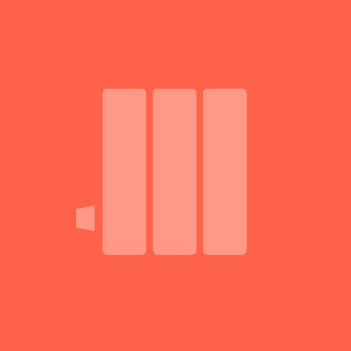 NEW Reina Flox Flat Horizontal Stainless Steel Designer Radiator